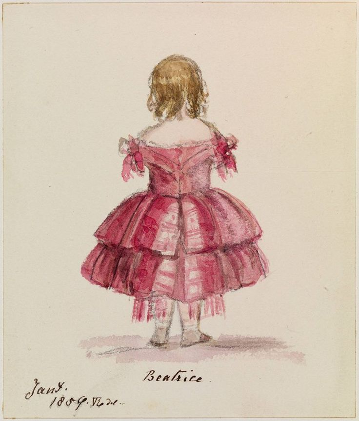 "January 1959 Princess ""Beatrice"" A lovely water colour study by her mother Queen Victoria."