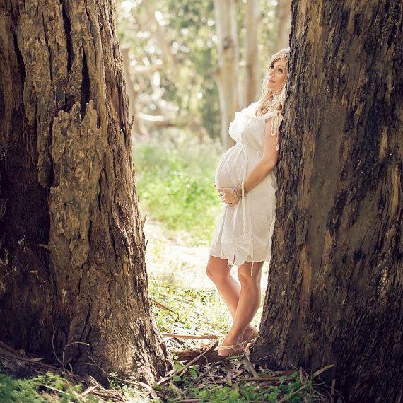White Maternity Dress Patisserie Knee Length Womens.