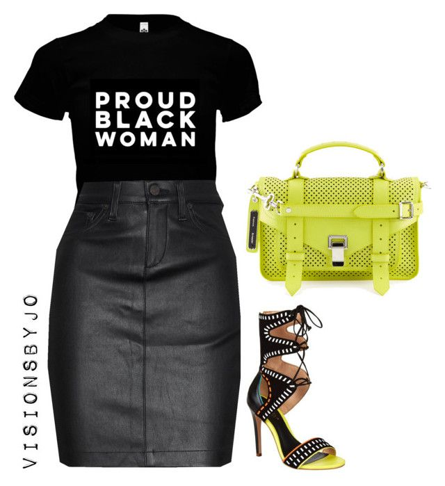 """""""Untitled #1579"""" by visionsbyjo on Polyvore featuring rag & bone/JEAN, Carvela Kurt Geiger and Proenza Schouler"""