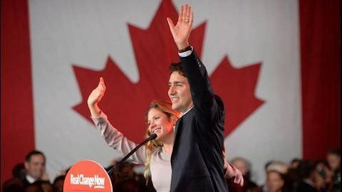 #Canadian election 2015 hands Justin #Trudeau and the #Liberals a majority government | National Post.  In with the new, out with the old.
