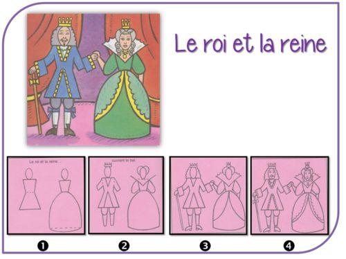 Je dessine des princesses, des chevaliers, des rois....