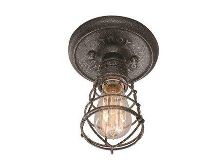 Troy Lighting Conduit Old Silver Iron Flush Mount Light