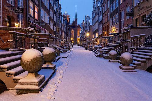 #Winter in #Gdansk -> #Mariacka #Street