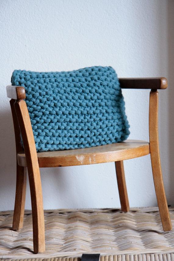 crochet tricotin pillow