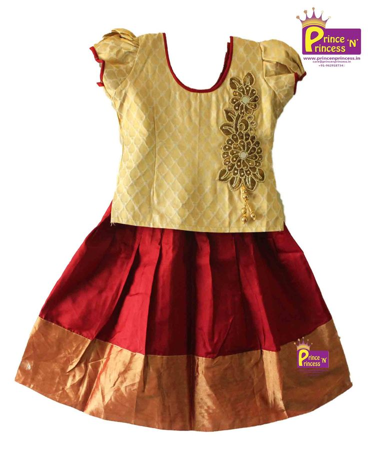 Grand Pure Silk Pavadi ( Pattu Pavadai Langa)  Made of Kancheepuram Silk with Heavy Jari size: 6m - 6Y For more details www.princenprincess.in #pattu #pavadai #grand #traditional #ethnic #pattupavadai #pavada #lehenga #coimbatore #princess