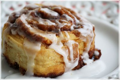 Edible Moments: Cinnamun buns....made without yeast and using baking powder.