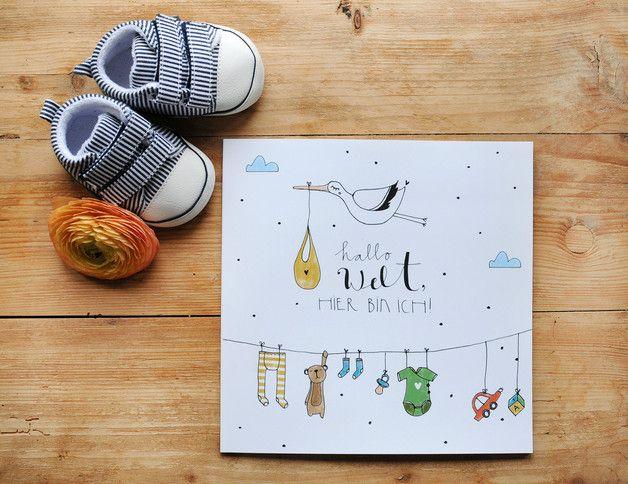 Babytagebuch für Erinnerungen, Geburt, Schwangerschaft / baby diary for birth, pregnancy made by Iloveyoulaugh via DaWanda.com