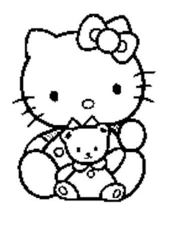 86 besten Coloring - Hello Kitty Bilder auf Pinterest | Malvorlagen ...