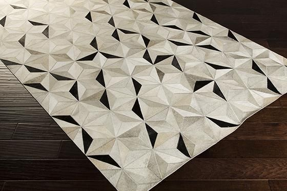 Perth Leather Area Rug geometric pattern. 8x10' $1500