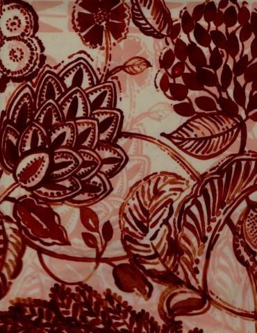 Otro diseño textil de Luli Sánchez.