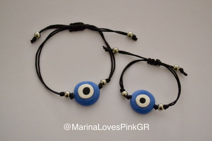 A personal favourite from my Etsy shop https://www.etsy.com/listing/493684381/evil-eye-bracelets-martyrika-mommy-and