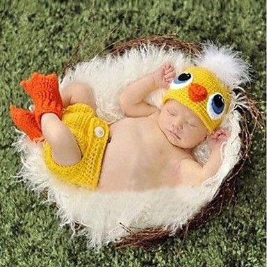 1 stuks baby fotografie rekwisieten pasgeboren eendontwerp hand gehaakt gebreid voor 3-12 mnd - USD $ 13.99