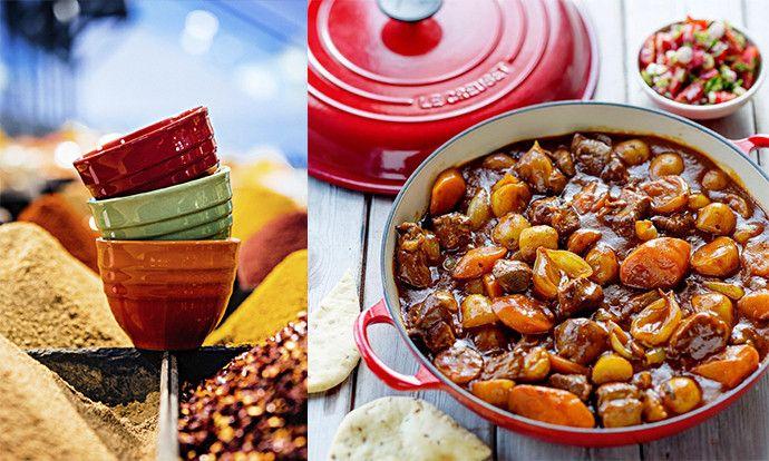 Receta de curry de cordero con pan naan