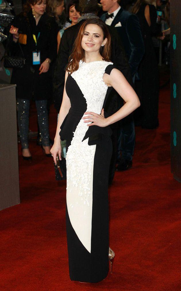 Hayley Atwell in Antonio Berardi dress | Baftas 2013 s