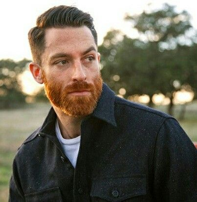 Red beard, different than hair color. | Manly men | Pinterest