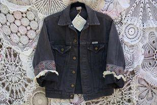 Hand Embellished Vintage Jean Jacket by byjulesbyjo on Etsy