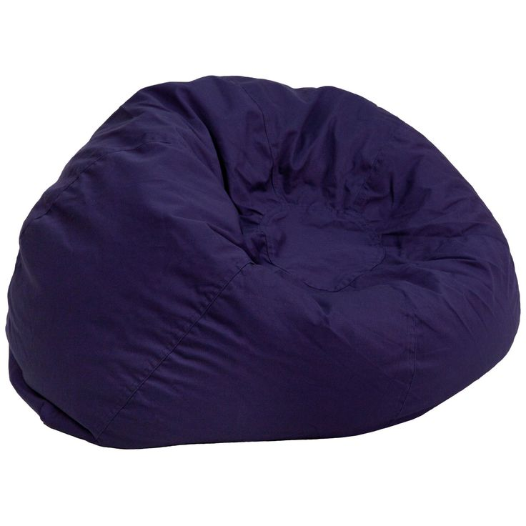 Oversized Solid Navy Blue Bean Bag Chair DG-BEAN-LARGE-SOLID-BL-GG