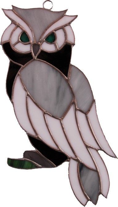 Stained Glass Owl Suncatcher  Order an oil painting of your pet now at www.petsinportrait.com