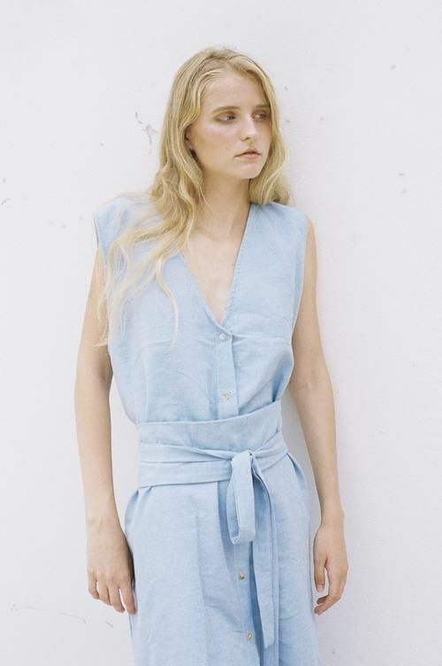 shop ethical sustainable & ethical clothing by Seeker x Retriever Nara Dress: Sky
