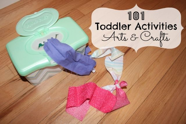 101 Toddler Activities - Arts & Crafts Easy arts and crafts for #preschool kids to make or play with