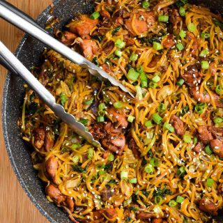 Asian Chicken with Noodles