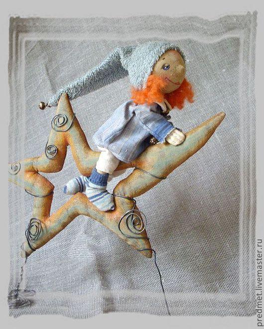 Ароматизированные куклы ручной работы. Ярмарка Мастеров - ручная работа. Купить Верхом на звезде.... Handmade. Звезда, хлопок, акриловые краски