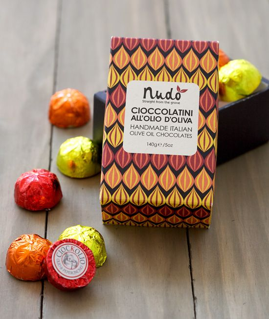 Unique Packaging Design, Nudo Olive Oil Chocolate #packaging #design (http://www.pinterest.com/aldenchong/)