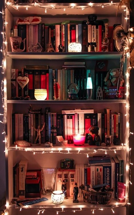 A little bit of lighting creates the perfect mood for your reading oasis