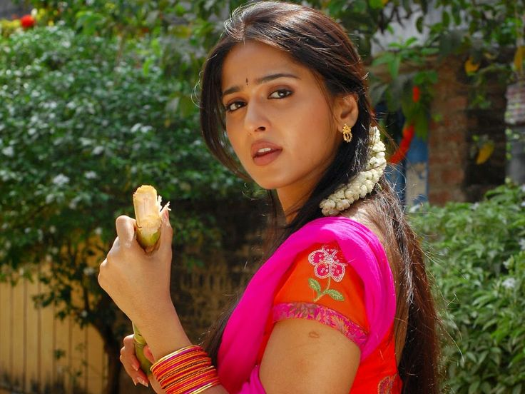 Anushka Shetty Cute Stills In Red Dress - Anushka Shetty