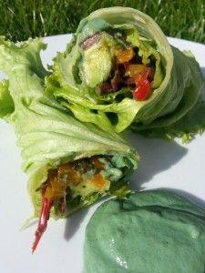 Raw Green Avocado Wraps #eatclean #inspo #healthy