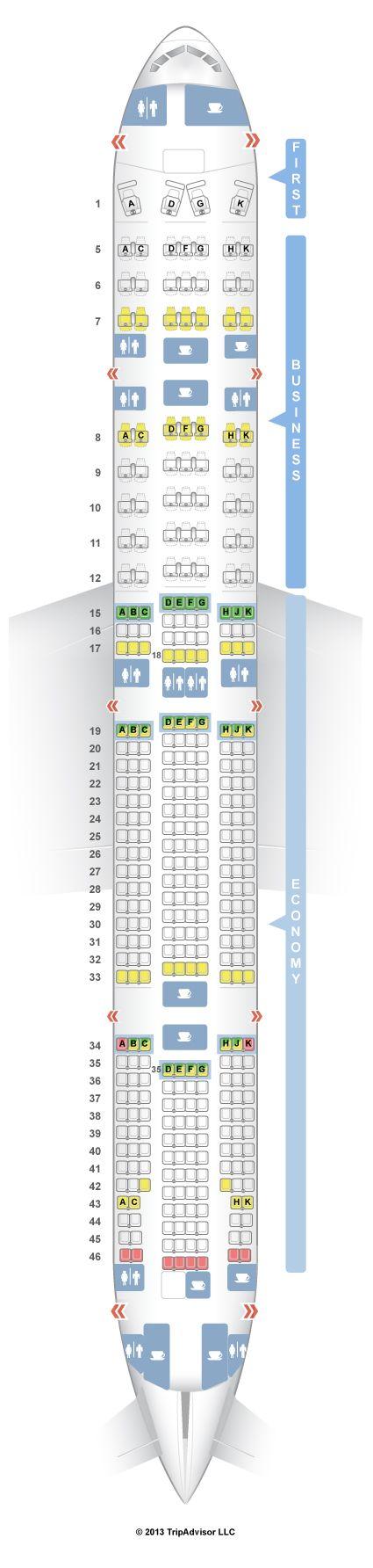 SeatGuru Seat Map TAM Boeing 777-300 (777) V1