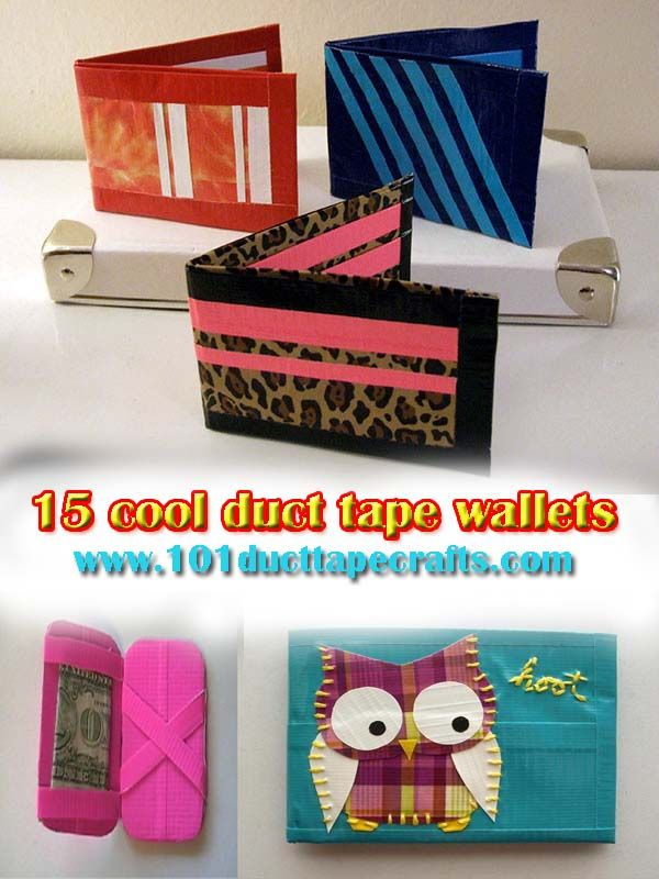 Duct Tape Craft Ideas For Kids Part - 22: The DIY Duct Tape Wallets Are Durable Nature Due To Tape Long Living  Quality And Also Shiny And Colorful. We Have Made These Cool Duct Tape  Wallets