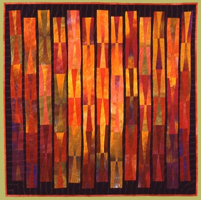 Janet Steadman - Beautiful composition, both the gradation of the colors and the design.  Love this quilt.