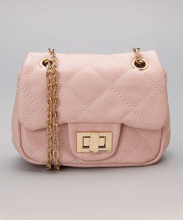 Look at this #zulilyfind! Pink Quilted Shoulder Bag #zulilyfinds