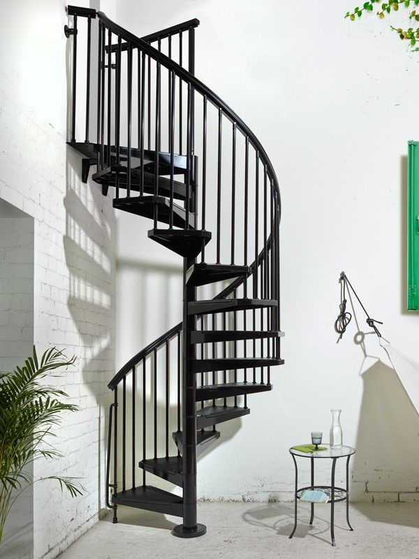 Eureka Spiral Steel Spiral Staircase by Arke Fontanot