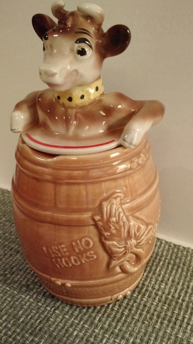 Vintage Elsie the Cow in a Barrel Cookie Jar by Bordon's Milk Co. | eBay