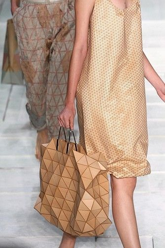 Issey Miyake Bag- i like the pattern and colour of this bag it's bold and unique and stands out.