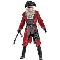 Adult Zombie Pirate Captain Costume - Party City