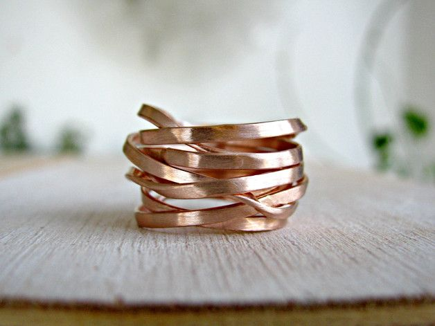 Band Rings – Set of 2 wide bands ,Custom for A. – a unique product by theophanojewel on DaWanda