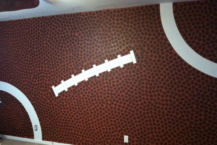 Just finished Jace's football wall! I'm over some dots!! Lol