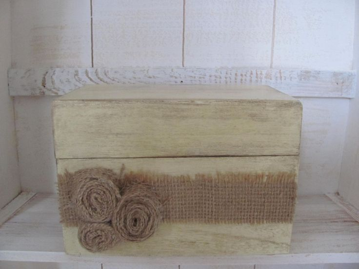 Antique White Shabby Chic Recipe Box by GTcottagecrafts on Etsy, $19.25