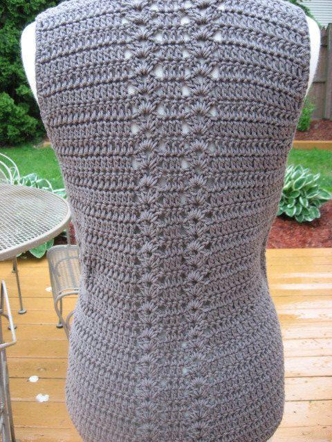 Crochet Pattern Meadows Vest with Matching por nutsaboutknitting