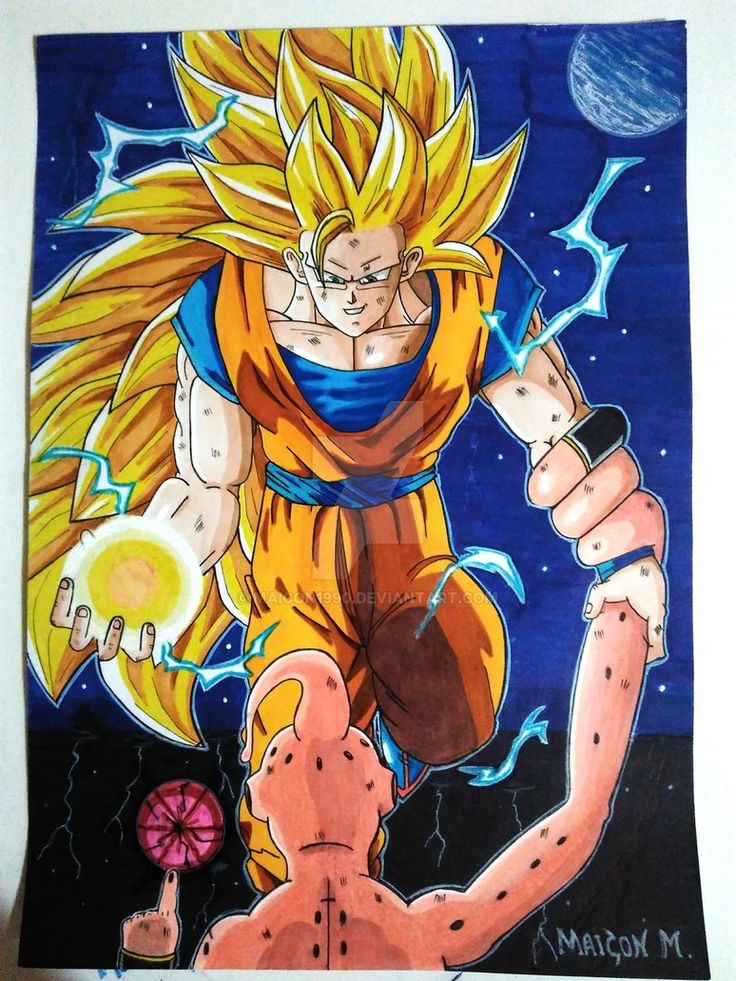 Disney Coloring Page See More Goku Ssj3 Vs Kid Buu By Maicon1990deviantart On DeviantArt
