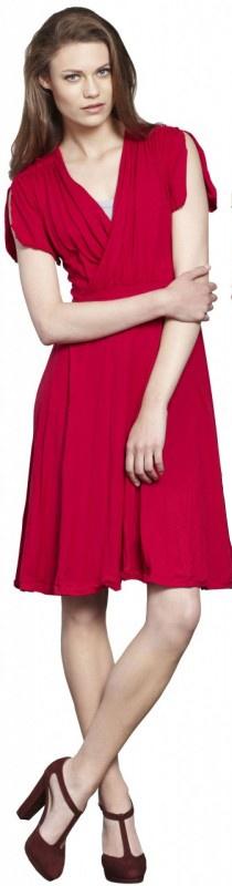 Bianca Gather Front Dress by Mesop  Now: $159.95 #dress #vneckline
