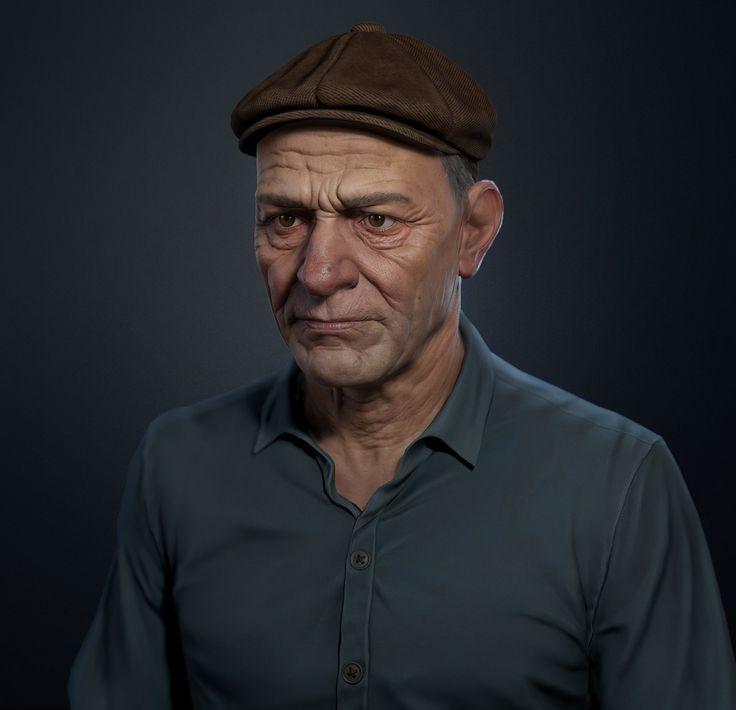 Peasant portrait - low poly , Pavel Protasov on ArtStation at…