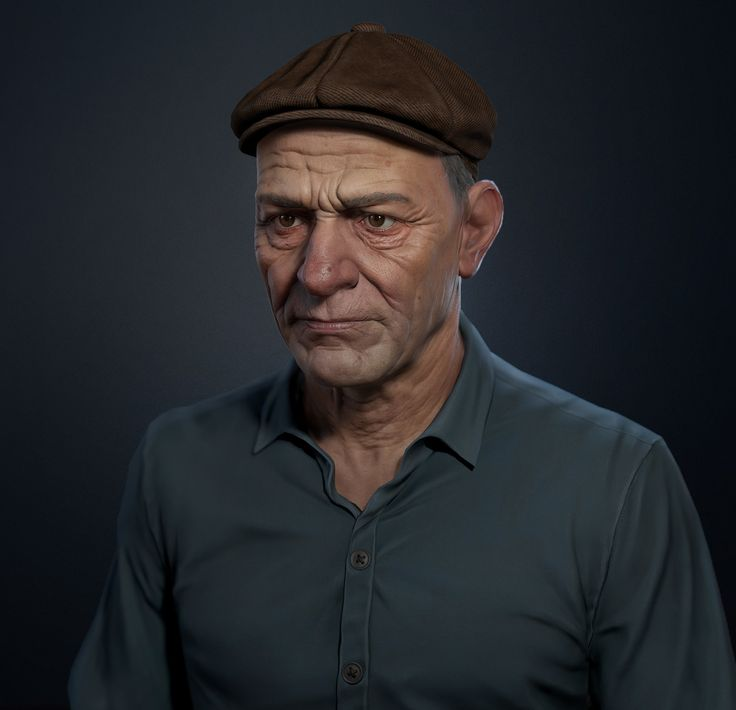 Peasant portrait - low poly , Pavel Protasov on ArtStation at…