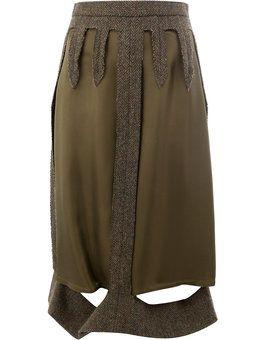 многослойная юбка с вырезами
