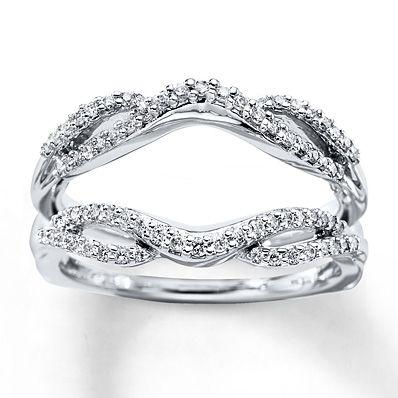 diamond enhancer ring 13 ct tw round cut 14k white gold