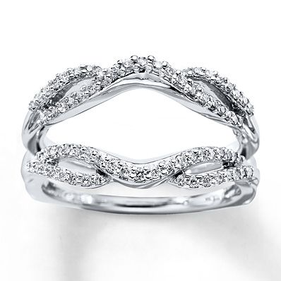 Diamond Enhancer Ring 1/3 ct tw Round-cut 14K White Gold. Josh liked this one, I'm still deciding :)
