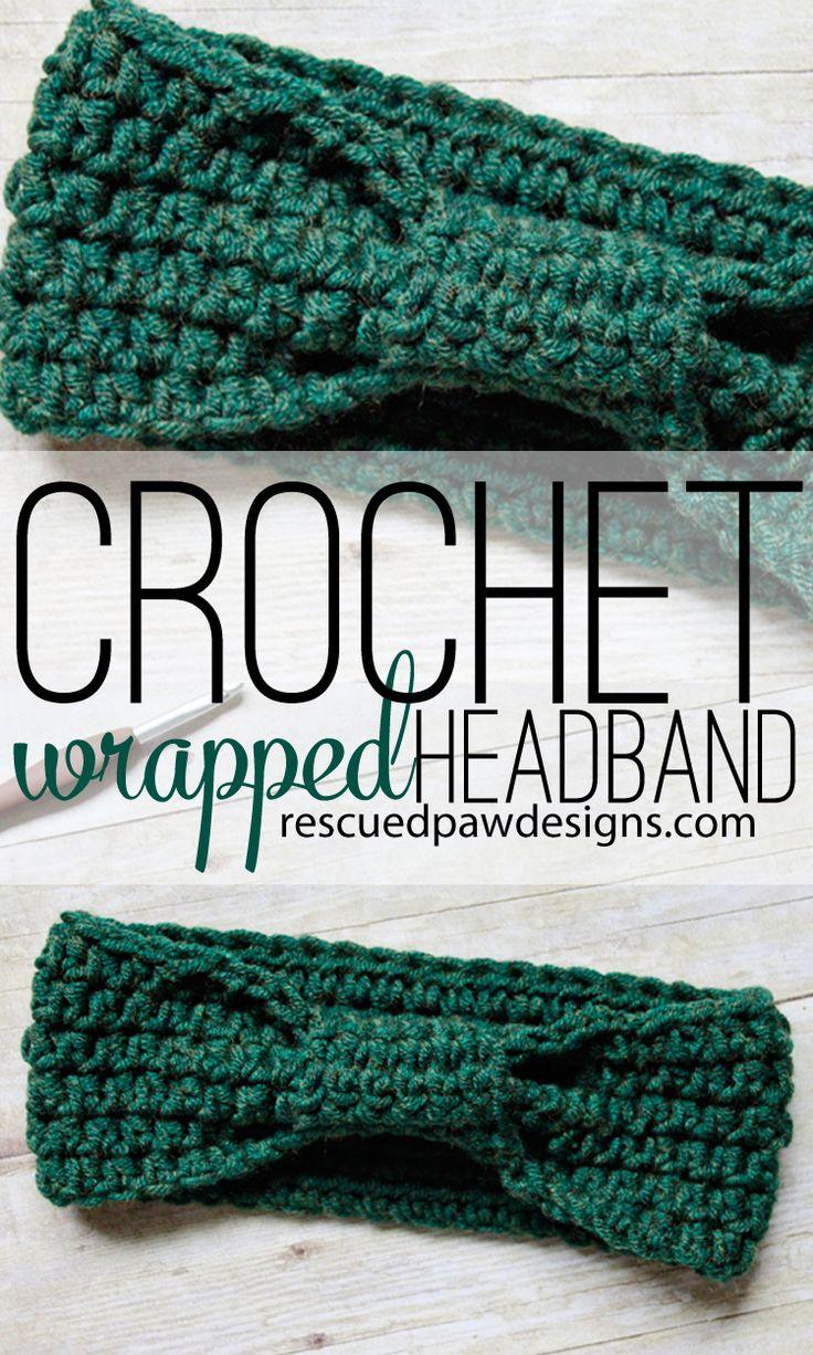 Crochet Wrapped Headband Pattern - Rescued Paw Designs #diy #tutorial #gift #giftidea